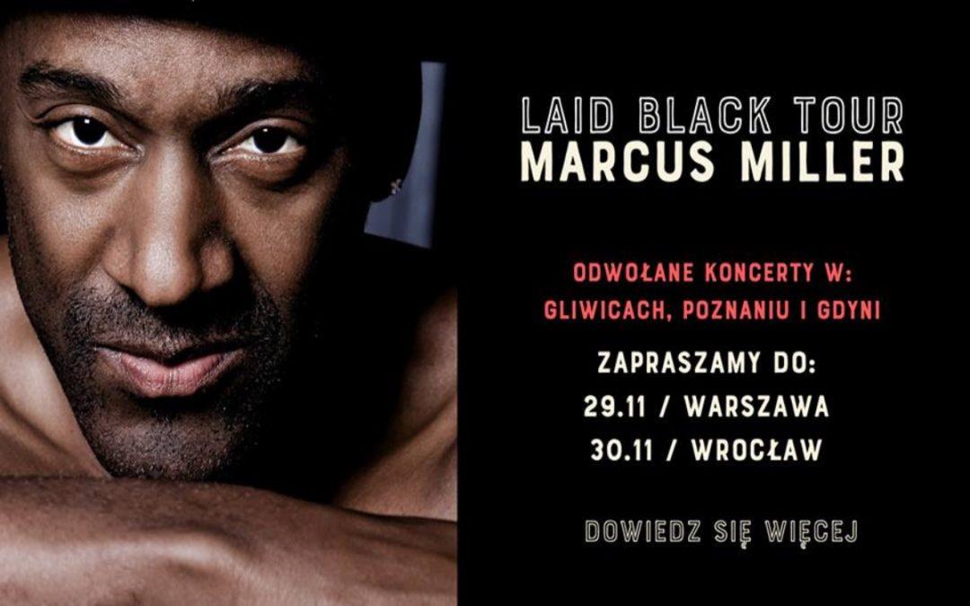 3 z 5 koncertów Marcus Millera w Polsce nie odbędą się