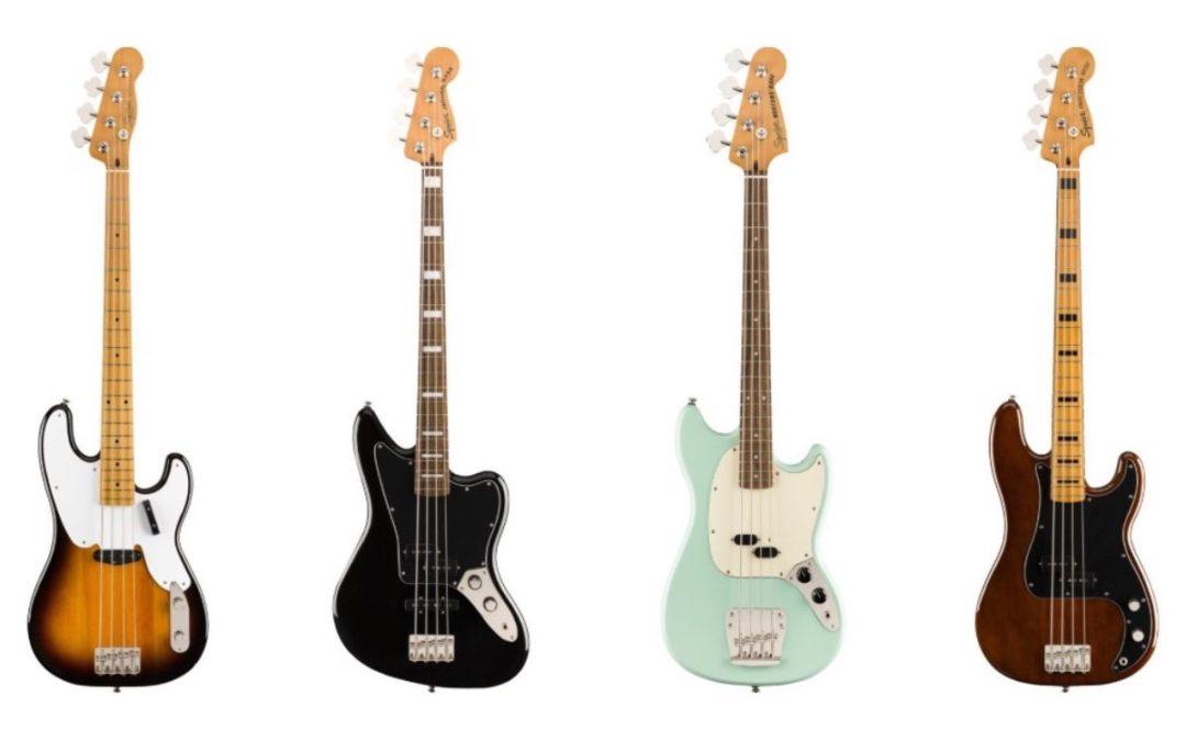 Fender wprowadza nowe basy Squier Classic Vibe